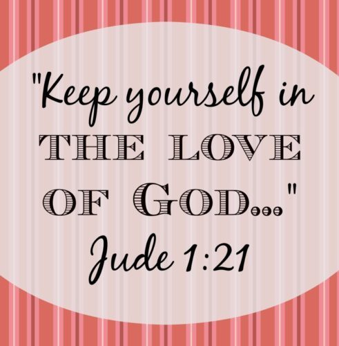 According to Jude 1:21, the way to live loved is by building ourselves up in our faith