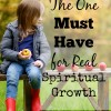 The one must have for real spiritual growth