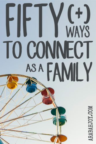 How do you connect as a family? Here are 50+ ideas, games, and activities for connecting around your family table. Let these ideas spark intimacy, connection, laughter, service, hospitality, and making memories as a family.