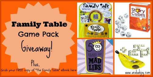 Family Table Game Pack Giveaway