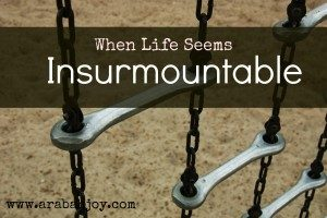 encouragement for when life seems insurmountable
