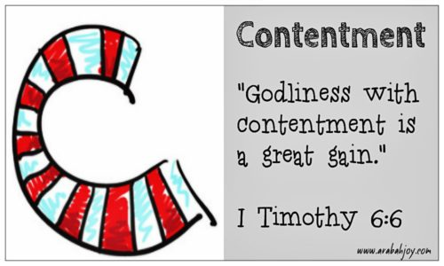 Praying Scripture C is for Contentment