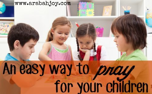 Sometimes all we need is a simple tool to pray more for our kids! Use this printable tool to pray for your children.