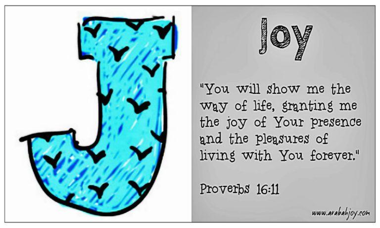 Praying Scripture: J for Joy