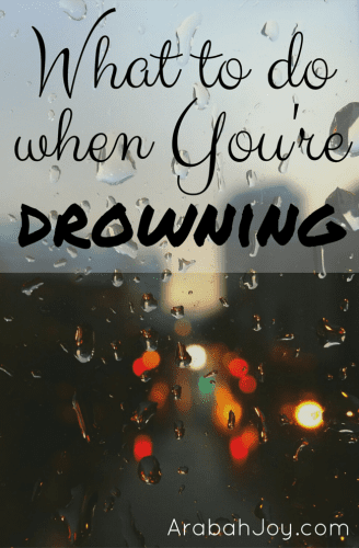 Have you ever felt like you were drowning? Maybe not physically, but emotionally or spiritually? A drowning victim is often panicked, but the best thing he or she...