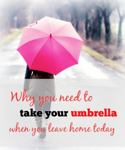 Why you need to take your umbrella with you today: THIS WILL FIRE YOU UP!