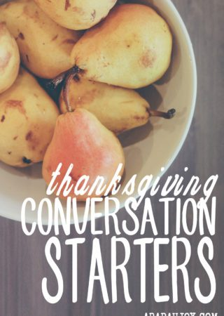 One of the things I've become more intentional about when having people in my home is conversation. It sounds basic, but in our high-tech, transient world, having rich, meaningful conversations that edify is not a guarantee. I created these cards to ensure folks leave my home feeling nourished in both body and spirit. Feel free to use these Thanksgiving conversation starters to make your Thanksgiving un-forgettable for your guests.