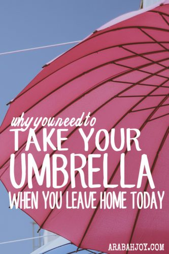"The book of James says faith without works is dead. When you pray for rain and ask God to do something, do you really believe he's going to do it? Do you ""bring your umbrella?"" Praying for rain is one thing. Taking your umbrella with you is another. So when you pray, take your umbrella with you. You're going to need it!"