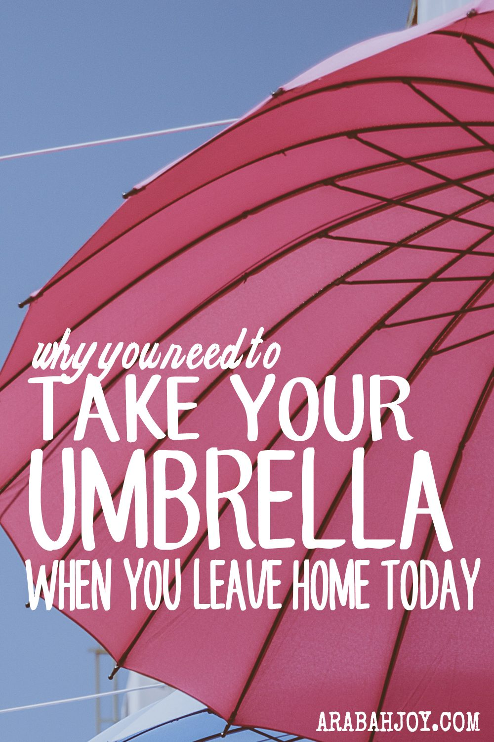 Why You Need To Take Your Umbrella When You Leave Home Today