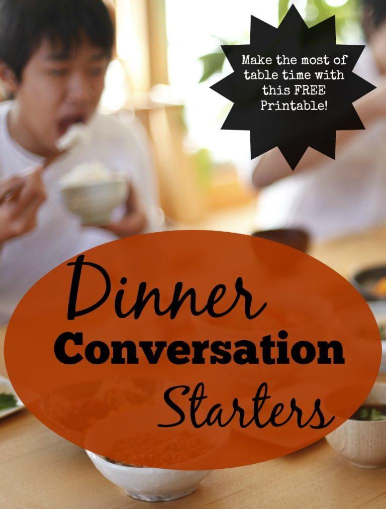 Conversation Starters- Free Printable!