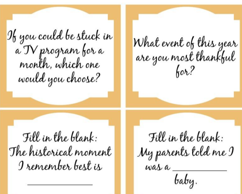 Conversation starters sample - FREE printable!