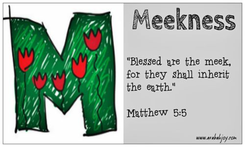 Prayer Card: M is for Meekness