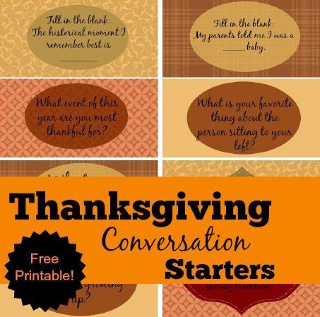 Thanksgiving Conversation Starters