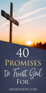an empty cross in the warm early morning light #Scripture #BibleStudy #promises #trust