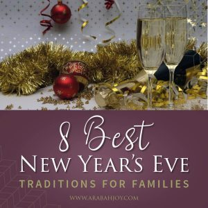 Celebrate New Year's with these great New Year's traditions for the entire family. Includes a balloon countdown, creating a family vision board, snacks, annual interview, and more! #newyearseve #newyearseveparty #newyearseveideas
