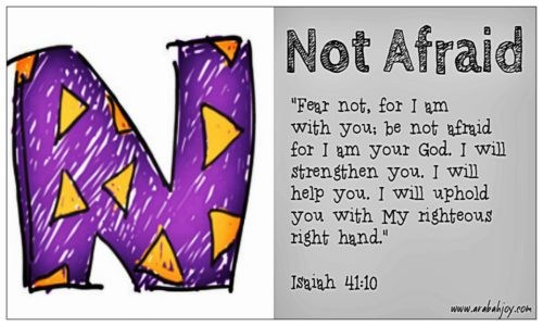 Scripture Prayer Card: N for Not Afraid