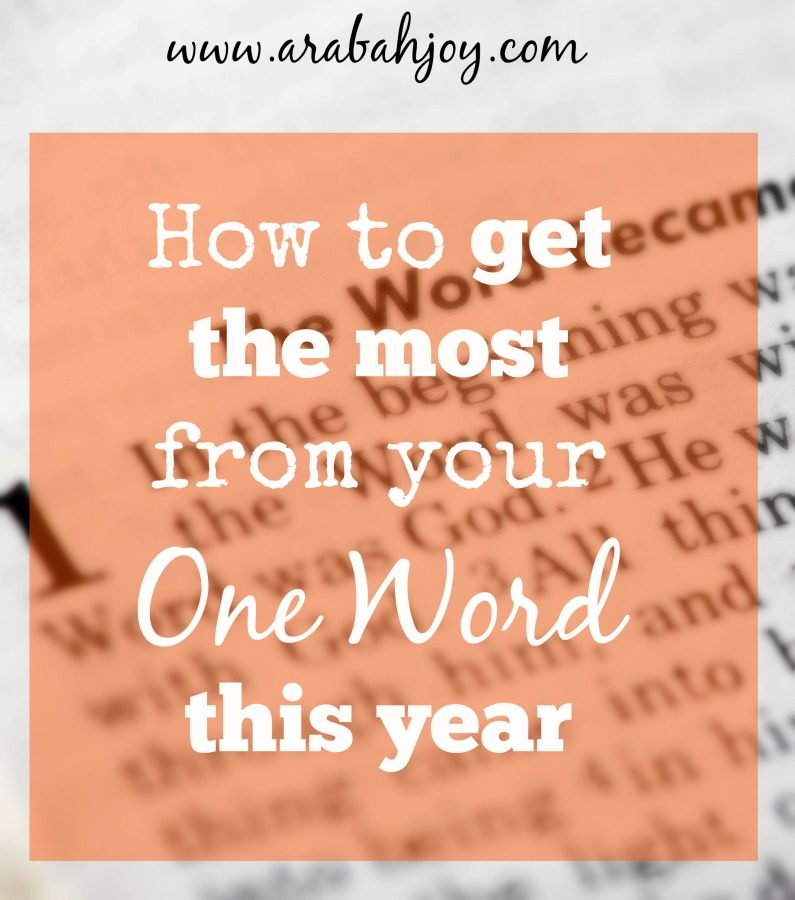 "Do you have a ""One Word""? God wants to make that Word become flesh in your life! Here's how to get the most from your One Word."
