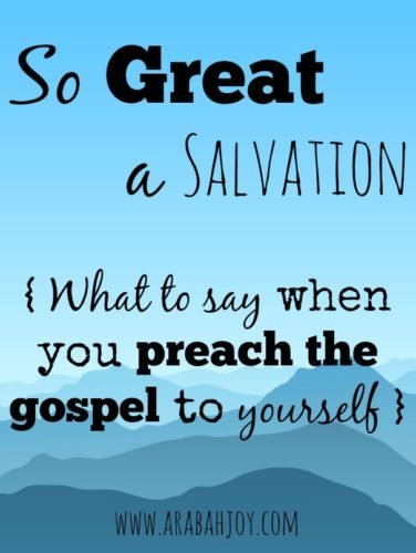 so great a salvation