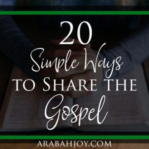 Here are 20+ simple ways to share the gospel. Also includes tools, training, and more resources for sharing the gospel.