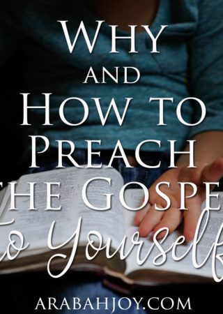 "Do you know what to say when you preach the gospel to yourself? Here's a look at important ""gospel"" words and how to preach to yourself."