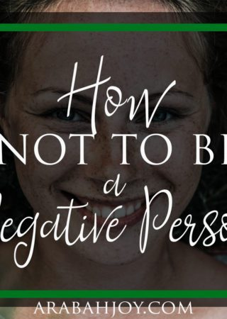 Do you struggle with negativity or pessimism? Studies show you can change! Scripture says you can too and here's how.