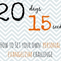 Here's how to set a personal evangelism goal for yourself... and motivation to keep it!