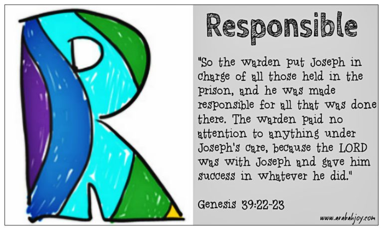 Praying Scripture: R is for Responsible