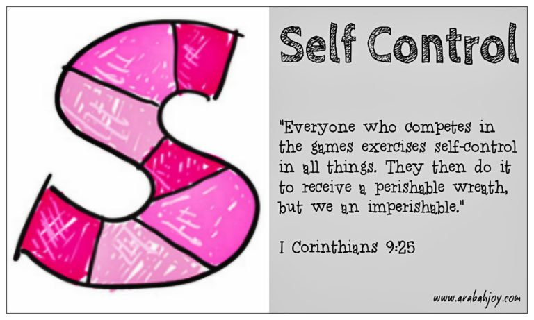Praying Scripture: S is for Self Control