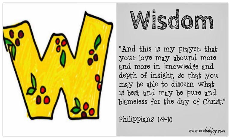 Prayer Card: W is for Wisdom