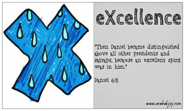Prayer Card: X is for eXcellent