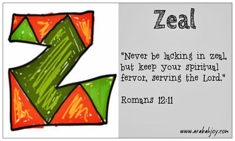 Prayer Card: Z for Zeal