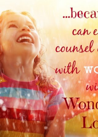 Are you counseling your soul with Worry? Or with Wonder?