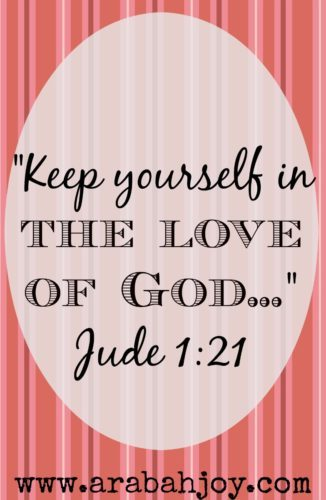 Jude 1:21 tells us to keep ourselves in the love of God. We can live loved everyday! But how? Here's a double take look at Jude 1:21 for some practical instruction.
