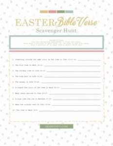 If you are looking for a fun Easter activity, look no further. This Easter Story Scripture Scavenger Hunt will have your family focused on the real meaning of Easter. It will encourage them to know the Bible and be able to confidently find references in scripture. Print your free scavenger hunt work sheet for your children, and watch them have fun while celebrating the death and resurrection of Christ.