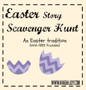 Take kids through the Easter story with this interactive Bible scavenger/photo hunt! A great Easter tradition for families.