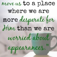 Is there a circumstance in your life that is breaking you? God has a plan for those painful circumstances that goes beyond our imagination. He promises that when we humble ourselves under His mighty hand, He will exalt us in due time.