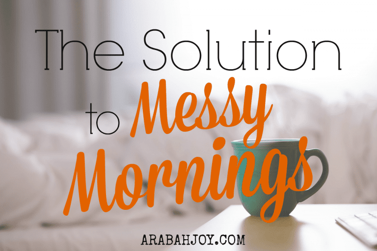 The Solution to Messy Mornings