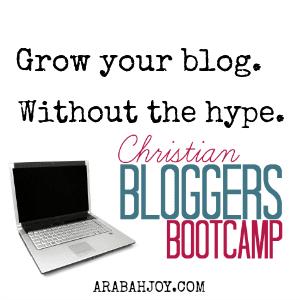 Christian Bloggers Bootcamp is a 6 module online course to help the Christian blogger grow their blog and amplify their message