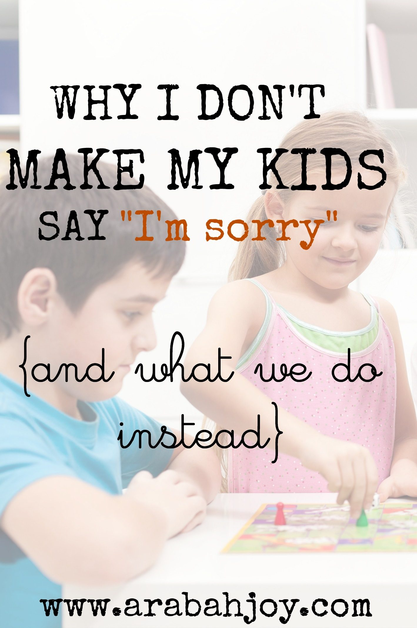 "Why I don't make my kids say ""I'm sorry"" and what we do instead"