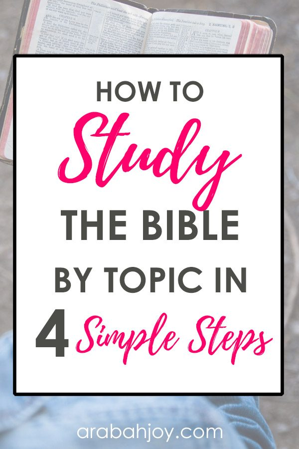 Do you need a place to start with your Bible study? Are you looking for practical tips to help you get going? Use these 4 simple steps to study the Bible!