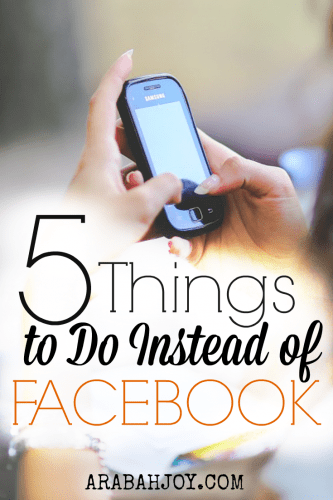 "5 Things to do instead of Facebook~ because we reap what we sow and we can reap a ""harvest of righteousness!"""