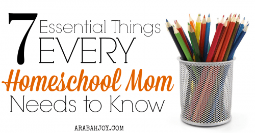 7 Essential Things Every Homeschool Mom Needs to Know