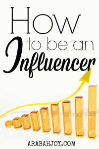 """I received an email from someone this week who said, """"I believe I'm going to be the next household name!!"""" And it got me to thinking about what it really means to be """"an influencer..."""""""