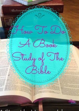 How to do a Book Study of the Bible