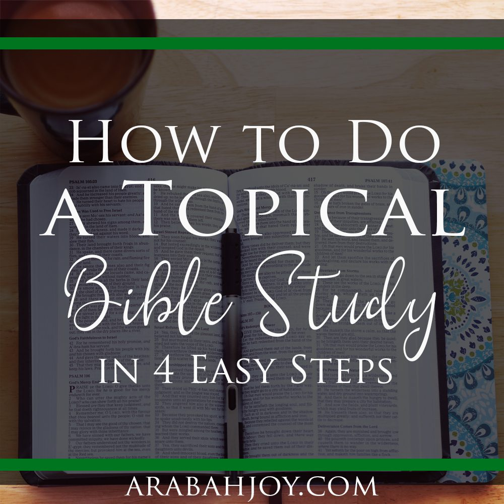 Httpwww Overlordsofchaos Comhtmlorigin Of The Word Jew Html: How To Study The Bible By Topic In 4 Simple Steps