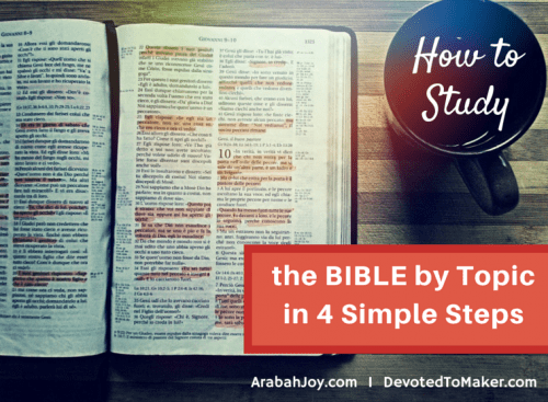 4 simple steps to studying the Bible by topic