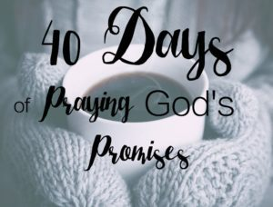 40 Day of praying God's promises button