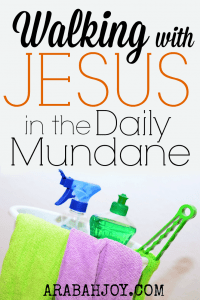 """Do you long to make a difference with your life but feel """"stuck"""" in the mundane? Click over to see how you can find Jesus in the daily grind."""