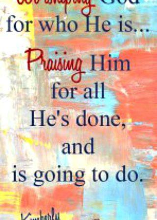 Worshiping God