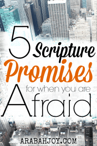 The news is disturbing and the world we live in ... and raise our kids in... can be frightening. But we can take heart! Jesus has overcome the world! Here are 5 scripture promises for when you are afraid.